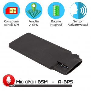 Modul Microfon Gsm pentru Spionaj in Timp Real cu Functie de Activare Vocala + Localizare in 20 Secunde, MN11MAX+