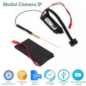 Camera Video IP Spion Wireless Wi-Fi si Night Vision, Vizualizare Online, Model MCIPNV940