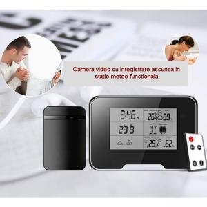 Termohigrometru cu microcamera video DVR pentru spionaj full HD