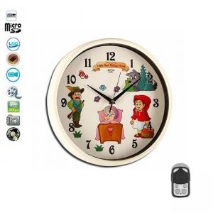 Camera Spion Integrata in Ceas de Perete pentru Camera Copiilor, Senzor de Miscare, Telecomanda, 32Gb, Rezolutie 1920x1080p