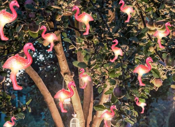 Instalatie de lumini Flamingo Roz 1