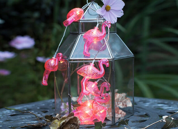 Instalatie de lumini Flamingo Roz 3