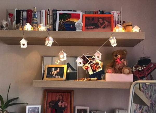 Instalatie de lumini LED Casute de Lemn 7
