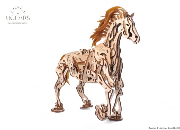 Puzzle 3D Cal Bionic din lemn Ugears 7