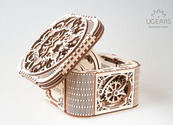 Puzzle 3D Cufar Comori - Model Mecanic din Lemn Ugears 0