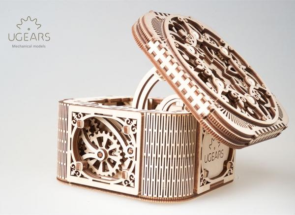 Puzzle 3D Cufar Comori - Model Mecanic din Lemn Ugears 12