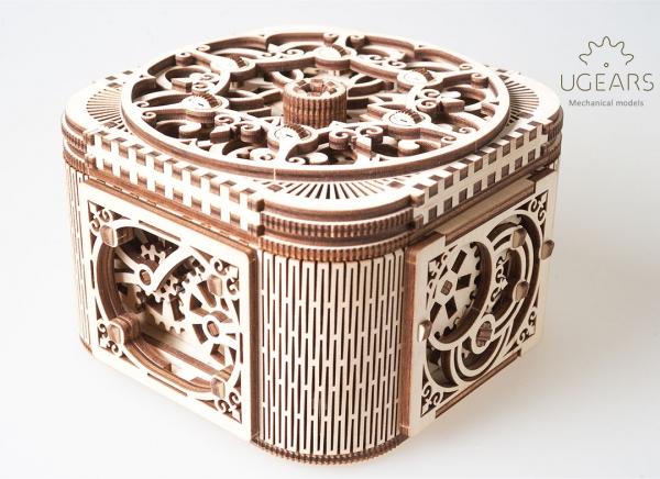 Puzzle 3D Cufar Comori - Model Mecanic din Lemn Ugears 16