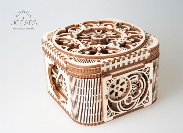 Puzzle 3D Cufar Comori - Model Mecanic din Lemn Ugears 17