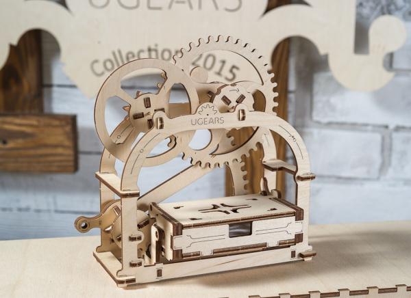 Puzzle 3D Cutie Mecanica din Lemn Ugears