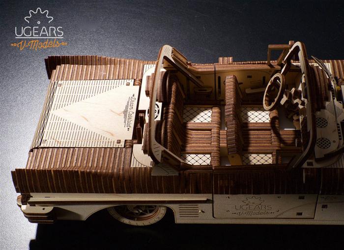 Puzzle 3D Dream Cabriolet VM-05 din lemn Ugears 10