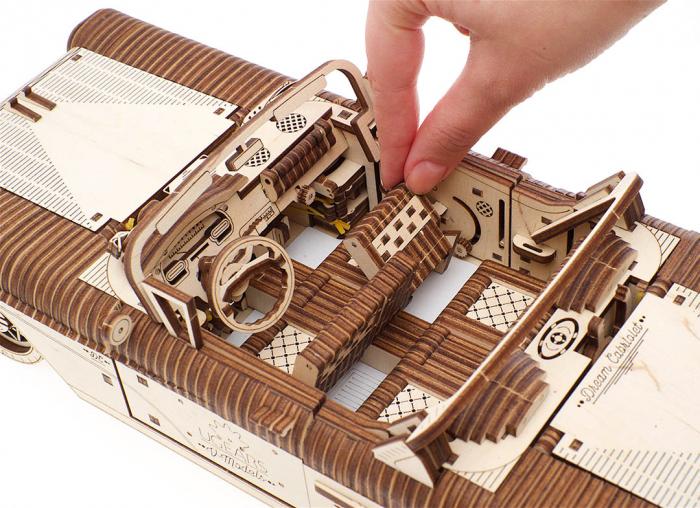 Puzzle 3D Dream Cabriolet VM-05 din lemn Ugears 12