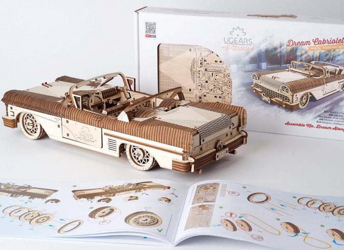 Puzzle 3D Dream Cabriolet VM-05 din lemn Ugears 14