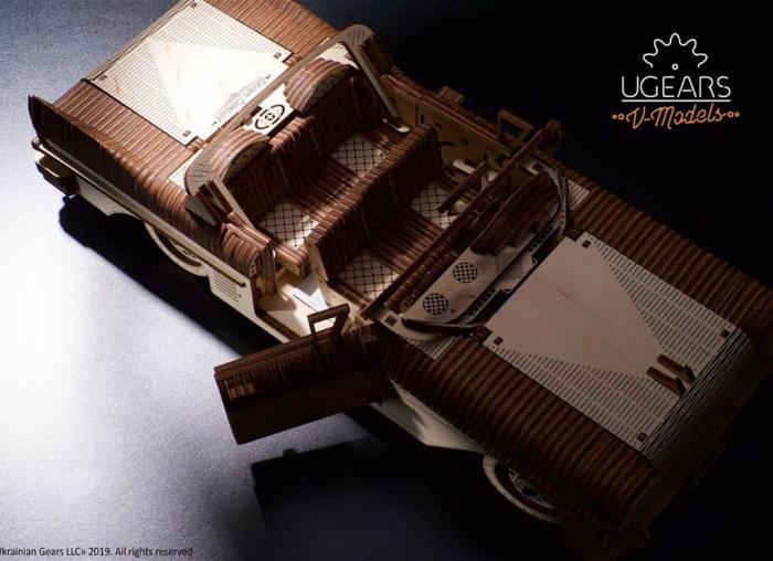 Puzzle 3D Dream Cabriolet VM-05 din lemn Ugears 8