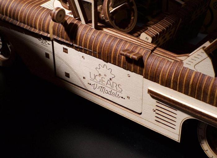 Puzzle 3D Dream Cabriolet VM-05 din lemn Ugears 9