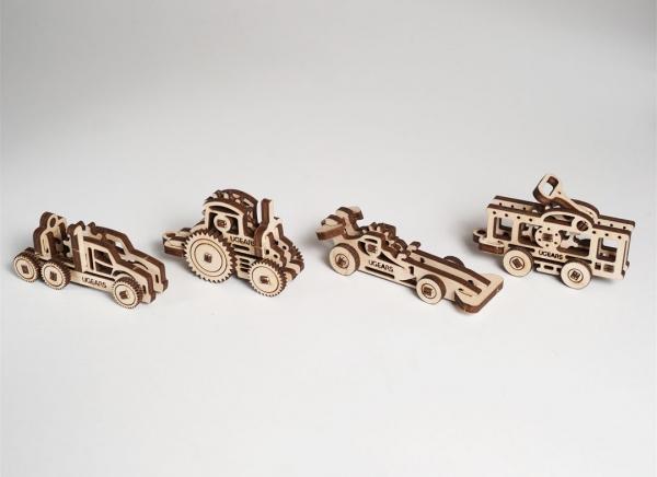 Puzzle 3D Fidget Vehicule din Lemn Ugears 5