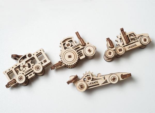 Puzzle 3D Fidget Vehicule din Lemn Ugears 1