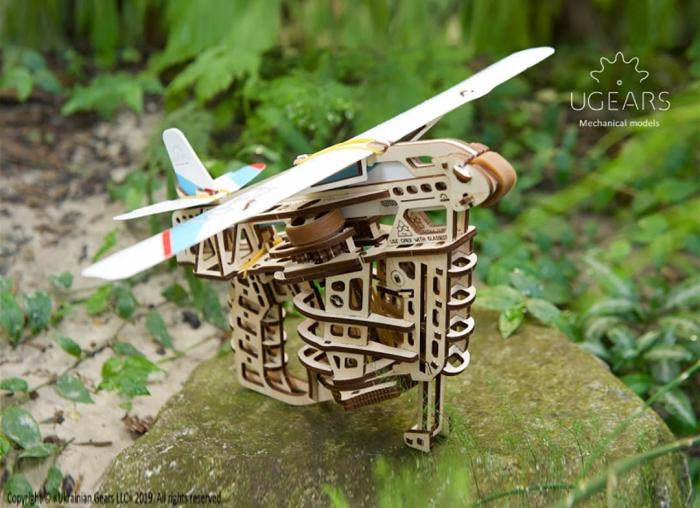 Puzzle 3D Flight Starter din lemn Ugears 10
