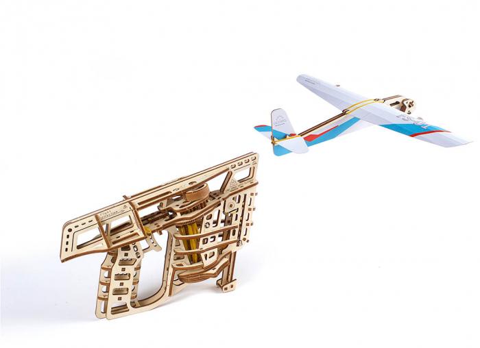 Puzzle 3D Flight Starter din lemn Ugears 15