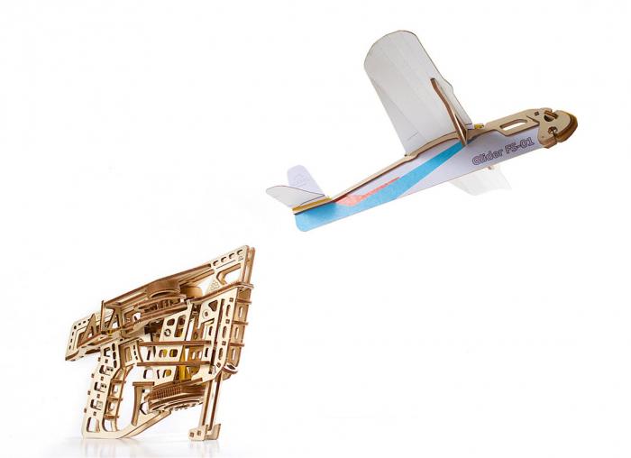 Puzzle 3D Flight Starter din lemn Ugears 16