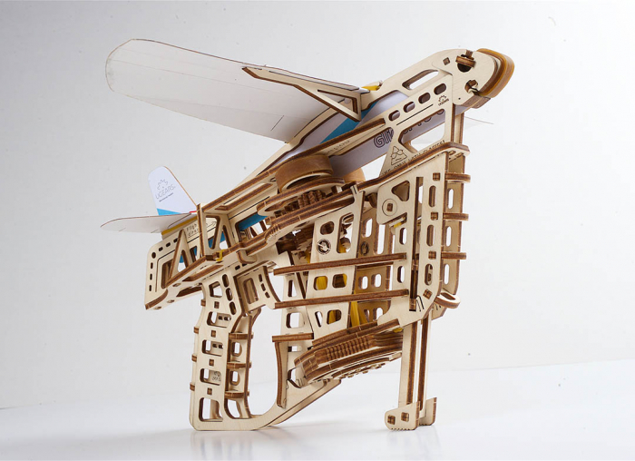 Puzzle 3D Flight Starter din lemn Ugears 11