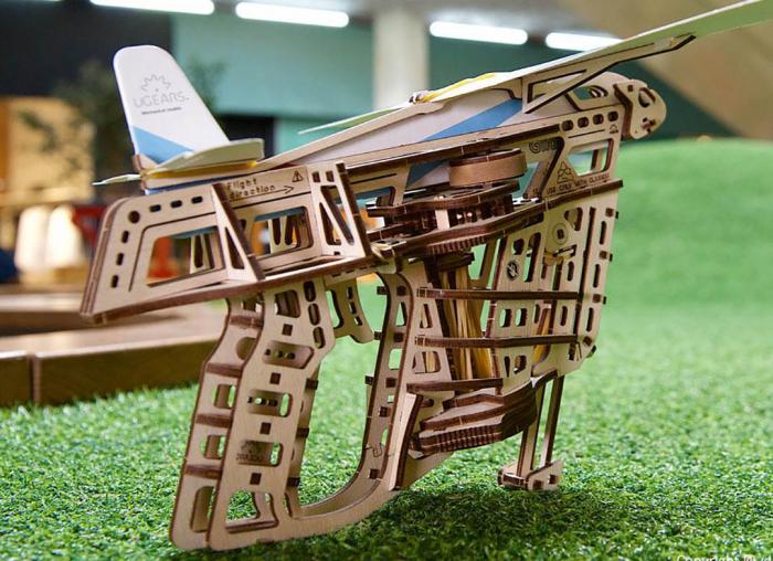 Puzzle 3D Flight Starter din lemn Ugears 2