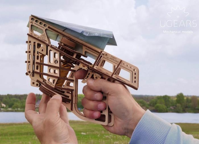 Puzzle 3D Flight Starter din lemn Ugears 6