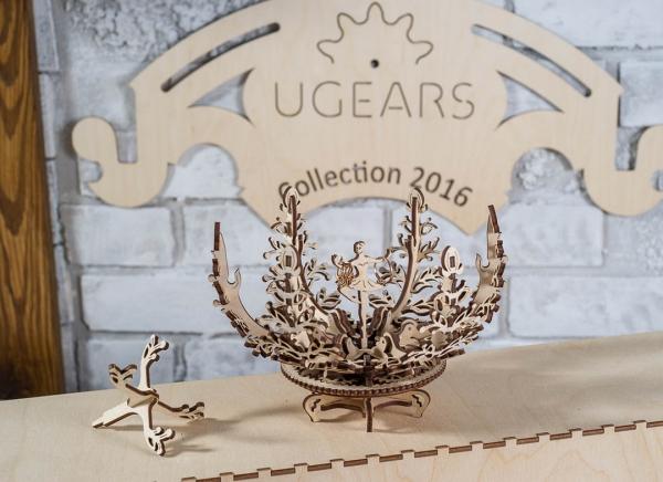 Puzzle 3D Floare din Lemn Ugears 8