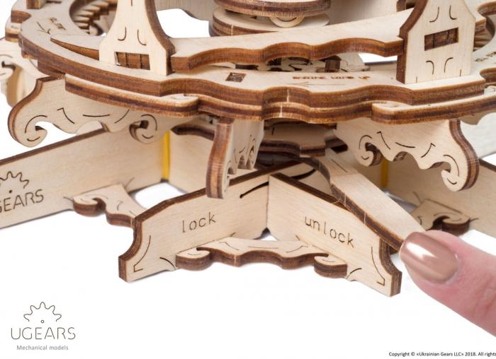 Puzzle 3D Moara de vant din lemn Ugears 3
