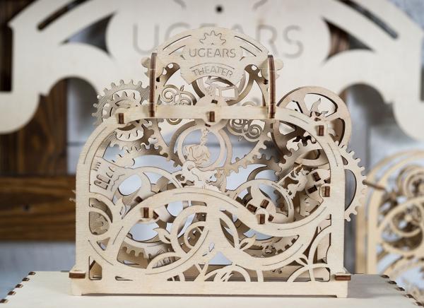 Puzzle 3D Teatru Mecanic din Lemn Ugears 8