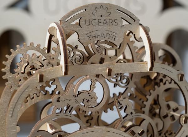 Puzzle 3D Teatru Mecanic din Lemn Ugears 10