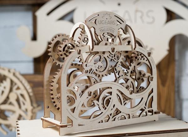 Puzzle 3D Teatru Mecanic din Lemn Ugears 11