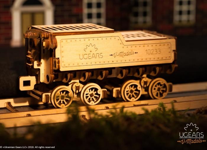 Puzzle 3D Tren V- Express cu abur din lemn Ugears 14