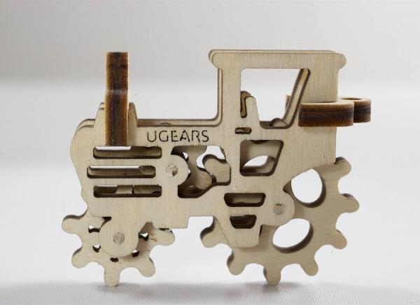 Puzzle 3D Fidget Tribiki din Lemn Ugears 3