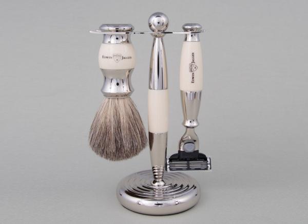 Set de barbierit 3 piese Ivory Mach3 Edwin Jagger 0