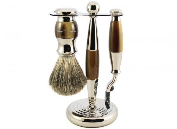Set cadou barbati pentru barbierit 3 piese Light Horn Mach3, Edwin Jagger 4