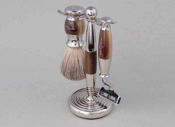 Set cadou barbati pentru barbierit 3 piese Light Horn Mach3, Edwin Jagger 1