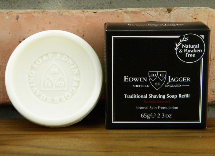 Sapun pentru barbierit Sandalwood 65g, Edwin Jagger 0