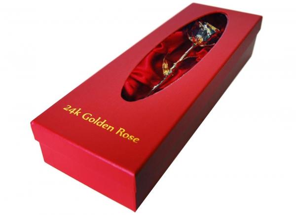 Trandafir placat cu aur de 24K 4