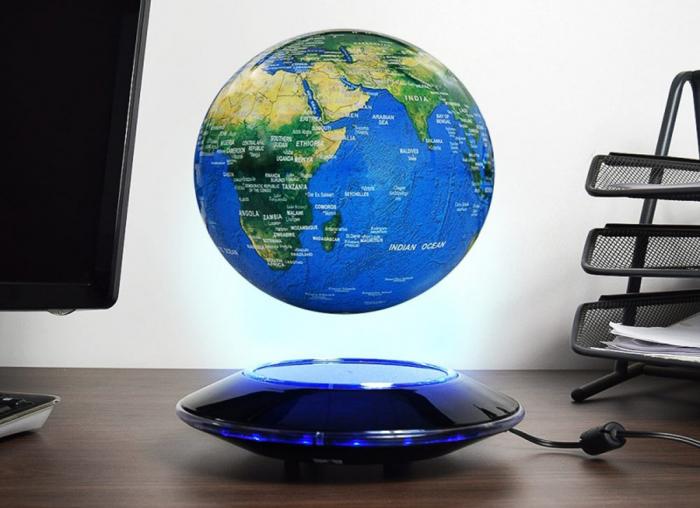 Glob magnetic plutitor cu iluminare LED 0