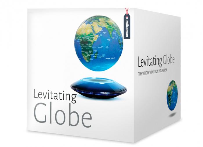Glob magnetic plutitor cu iluminare LED 2