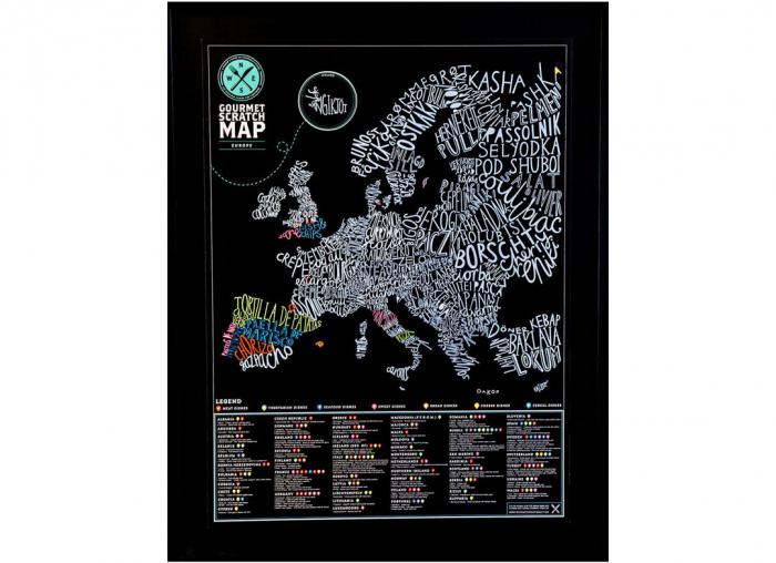 Harta razuibila Gourmet Europa