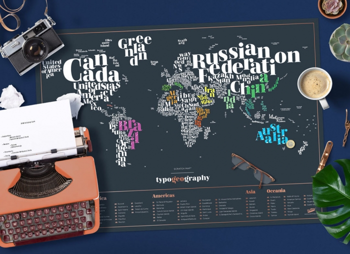 Harta razuibila Typogeography 0