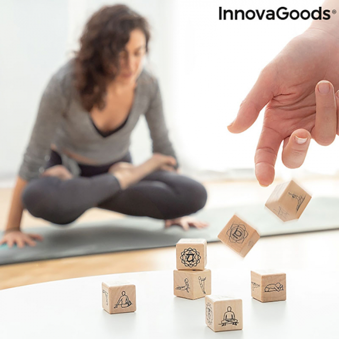 Yoga Game cu zaruri din lemn 1