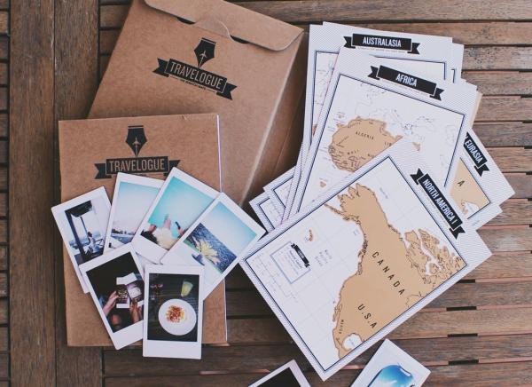 Jurnal de voiaj Travelogue cu harti razuibile 1