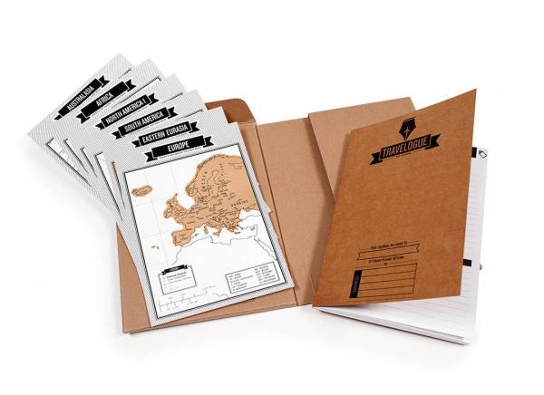 Jurnal de voiaj Travelogue cu harti razuibile 8
