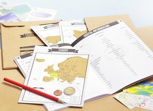Jurnal de voiaj Travelogue cu harti razuibile 3
