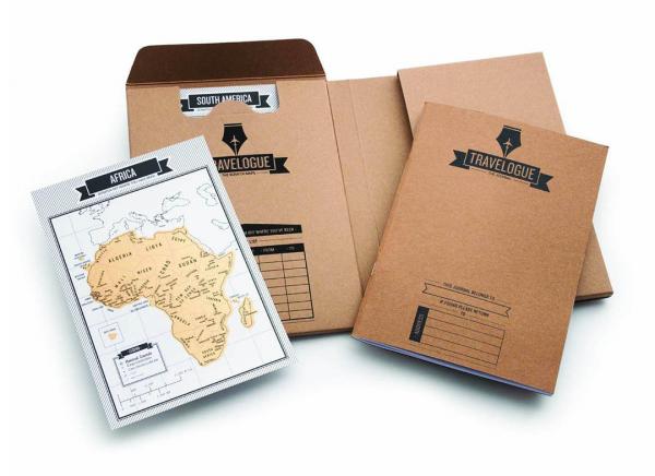 Jurnal de voiaj Travelogue cu harti razuibile 7