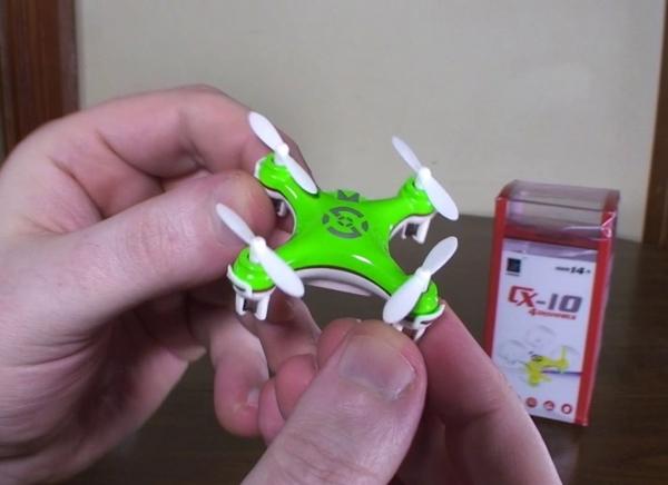 Mini Drona Cheerson CX-10 Verde 4
