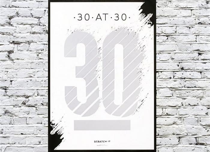 Poster razuibil 30 de ani 1