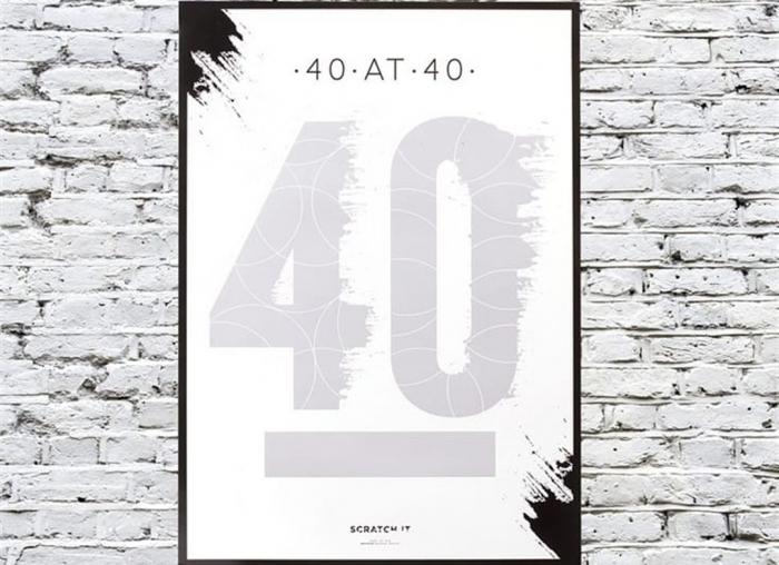 Poster razuibil 40 de ani